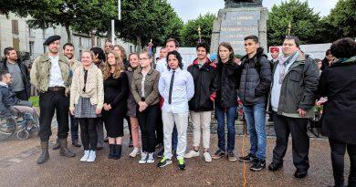 Le lycée Georges Leygues aux cérémonies du 8 mai